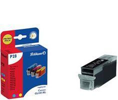 Pelikan pack promo p28 plus de 4 cartouches compatible avec canon cLI – 551 xL 4 x 12 ml (noir/cyan/magenta/jaune