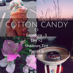 USE THIS FOR PERSONAL IG : (Cotton Candy) bright/pink filter. Looks best on bright photos with pastel colors.