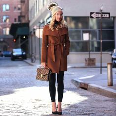 Awesome 45 Popular Winter Outfits Ideas To Copy Right Now Stylish Winter Boots, Cute Winter Outfits, Winter Fashion Outfits, Spring Outfits, Trendy Outfits, Cute Outfits, Women's Fashion, Oversized Grey Sweater, Brooklyn Blonde