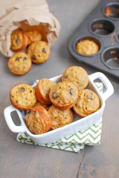 Made with just 4 ingredients, you will love the taste of these little Sweet Potato Banana Bites. They are gluten-free and make a delicious snack! The mashed sweet potato, mashed banana, nut butter, eggs and cinnamon make for one delicious treat! Sweet Potato Muffins, Sweet Potato Recipes, Baby Food Recipes, Snack Recipes, Mini Muffins, Sweet Potato Banana Recipe, Sweet Potato Snack, Sweet Potato Cakes, Healthy Recipes