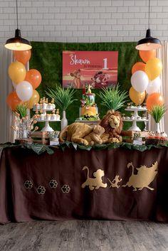 Birthday parties 9359111713115450 - Kara's Party Ideas Simba & Friends Lion King Birthday Party Lion Birthday Party, Lion Party, Lion King Party, Lion King Birthday, First Birthday Party Themes, Baby Boy 1st Birthday, Boy Birthday Parties, Birthday Ideas, 5th Birthday
