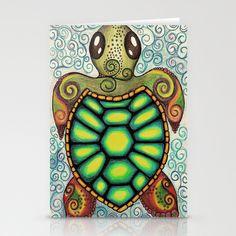 Baby Sea Turtle Stationery Cards by Alohalani - $12.00