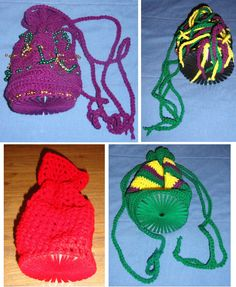 I had tons of used CDs in my craft stash. One day I realized that I could crochet around a CD to create a base for a crocheted bag (gift bag, purse, make-up bag, whatever you want to use it for). Work approximately 30 single crochet stitches around the cd. For the first row from the cd, increase each st by 1 so you will end up with approximately 60 stitches around (I normally do a (dc, ch 1) around or a (sc, ch 1) around), from there you can do whatever you'd like (dc throughout, crochet…