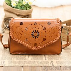 645cf0310f  lt 3 Super Cute Vintage Brown Handbag with Hollow Out Lace Embroidery