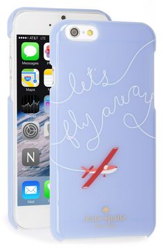Script scrawled across this pastel-hued phone case broadcasts wanderlust while keeping the tech safe.