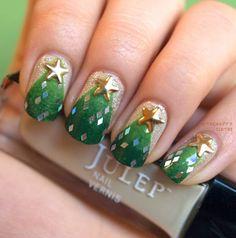 Christmas Tree Manicure: Nail Polish Canada Holiday Nail Art Challenge - The Happy Sloths