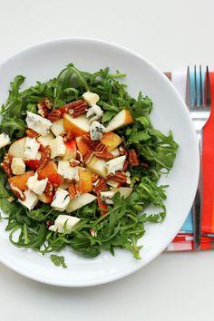 Gorgonzola, Apples, and Pecans make a gorgeous Primal / Paleo salad