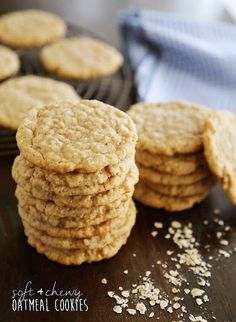 Old Fashioned Chewy Oatmeal Cookies Recipe | Yummly