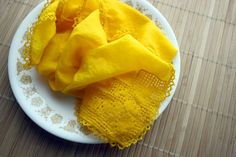 How-to: Make Natural Fabric Dye from Turmeric I like how it looks after being washed a couple of times.