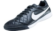 Nike Tiempo Legacy IC Indoor Soccer Shoes  Black with White
