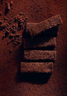 Dunkle Shortbread-Streifen