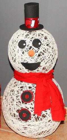 Muñeco de Nieve de lana - Yo, yo misma y mis cosas