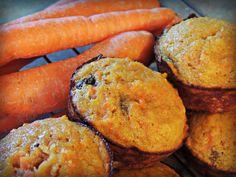 organic coconut flour & carrot muffins