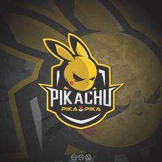 Im trying to make a eSports logo from pokemon characters Team Logo Design, Logo Desing, Mascot Design, Logo Inspiration, Gaming Logo, Pokemon Logo, Mobile Logo, Esports Logo, Cute Pikachu