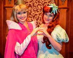 Aurora and Ariel the heart is so cute!! #besties