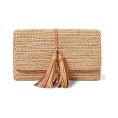 Polo Ralph Lauren Raffia Clutch (€165) ❤ liked on Polyvore featuring bags, handbags, clutches, woven handbags, beige purse, raffia purse, beige handbags and raffia clutches