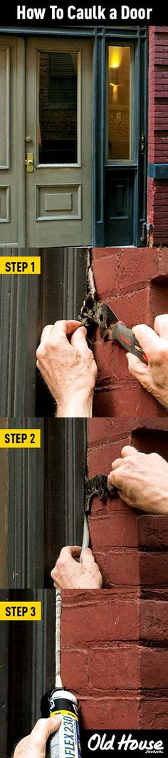 Learn how to replace the caulk around your doors (Photos: Andy Olenick) | Old House Journal DIY Month—30 days of projects sponsored by www.timberlane.com