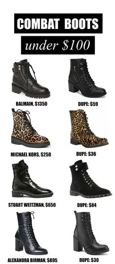 Combat Boot Designer Dupes for Fall and Winter Mash Elle  Mash Elle