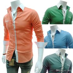 Cheap Shirts - Best Newest Business Casual Shirts Long Sleeve ...