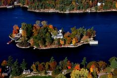Comfort Island Alexandria Bay, New York was built in 1883 by industrialist Alson E. Lawrence River in the Thousand Islands… We Were Liars, Alexandria Bay, Corning Museum Of Glass, Beautiful Places To Live, Thousand Islands, Aerial Photography, Best Cities, Cool Photos, The Best