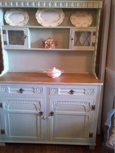 Vintage Dresser in Oak in Farrow and Ball Vert de Terre £250.00