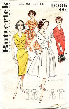 Vintage 1960s Dress Sewing Pattern  Butterick by ThePatternSource