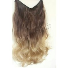 22 100g Syn Magic-Halo Secret-Wire Ombre Hair Extension Many Color/ ($41) ❤ liked on Polyvore featuring beauty products, haircare, bath & beauty, grey, hair care, hair extensions, flat iron, straightening iron, styling iron and straight iron