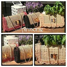 Nuove borse in paglia di Vienna! www.facebook.com ArmoniediPaolaeRossana…  Linguette b94e1b876b7