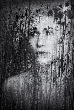 Fabulous portraits using a shower door by Russ Rowland! (via Lenscratch)
