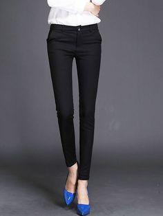 Pantalon de Crayon Femmes Sexy Élastique Coton