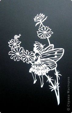 Картина панно рисунок Вырезание Эльфы_Heike Kulski Бумага фото 1
