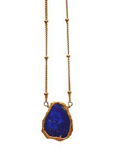 blue FREEFORM lapis lazuli necklace: Kei Jewelry