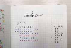 Páginas numberadas, uma cor aqui e outra li, sem caligrafias mirabolantes.