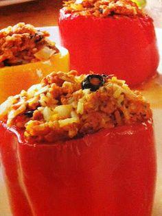 Easy crockpot recipes: Stuffed Sweet Peppers Crockpot Recipe