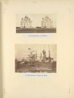 St. Petersburg. A church; St. Petersburg. Ships on Neva.