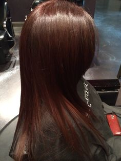Mahogany Hair Color by Laura at Abeille Salon Hair Color Dark, Hair Color And Cut, Brown Hair Colors, Hair Colour, Mohogany Hair Color, Redish Brown Hair, Mahogany Hair, Hairstyles Haircuts, Pretty Hairstyles