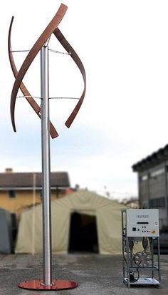 Sleek Wooden Wind Turbine Design | Brilliant DIY Wind Turbine Design Ideas For Living Off the Grid