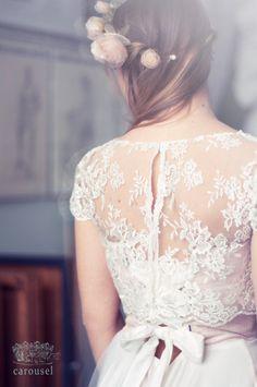 Lace wedding top separate // Fleur