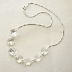 Necklace Silver Crystal Chandelier