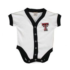 Check out this adorable little onesie! [Infant Texas Tech Snapfront Cotton Onesie]