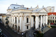 The Theater was built from 1899 after the plans of the Vienesse firm Fellner and Helmer what planed almost 50 theaters in Europe like those of Timisoara, Cluj and Iasi. The entrepreneurs Kalman Rimanoczy Jr, Jozsef Guttman and Vilmos Rendes realized the building in less than two years and  the curtains lifted up at October 15th 1900. Oh The Places You'll Go, Romania, Theater, Europe, Mansions, Architecture, House Styles, Building, Jr