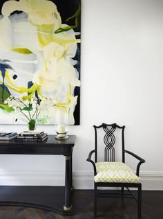 Denai Kulcsar Interiors   Entrances/foyers   Example Of Similar Style Chair  Flanking Console