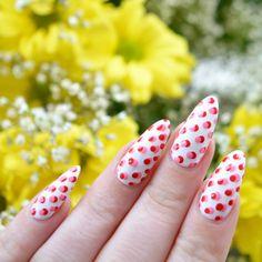 Mani Monday: Dotty nail art using Seventeen Gel Colours. Mani by Talonted Lex  http://miascollection.com