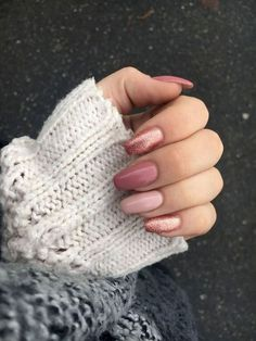 60 +Pic Pink Gel Nails Ideas 2018 - style you 7 Pink Nail Colors, Pink Gel Nails, Cute Acrylic Nails, Fall Nail Colors, Acrylic Nail Designs, Nail Polish Colors, Nail Art Designs, Nails Design, Dark Colors