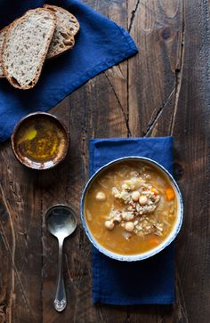 Rustic Cabbage, Chickpea and Wild Rice Soup