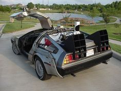 Doc Brown's 1981 DeLorean DMC-12 time machine in Back to the Future