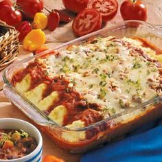 Mexican Manicotti -add rice to beans Cheese Manicotti, Manicotti Pasta, Mexican Manicotti, Refried Beans, So Little Time, Pasta Dishes, Vegetarian Cheese, Italian Recipes, Meals