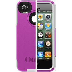 OtterBox Commuter Series for iPhone 4S, Hot Pink Plastic/White Silicone