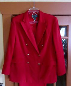 Ralph Lauren Double Breasted Classic RED Silk Suit by VistaChick, $200.00