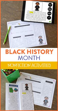 Looking for new and interesting ways to teach your students all about some important figure in Black History? Try this interactive nonfiction resource where students can explore their ipads, tablets and computers to click their way through learning! There are also quizzes for students to check their comprehension!